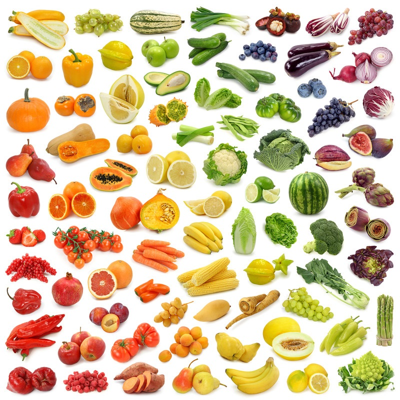 Eat the Rainbow of Colours of Organic Fruit and Veg