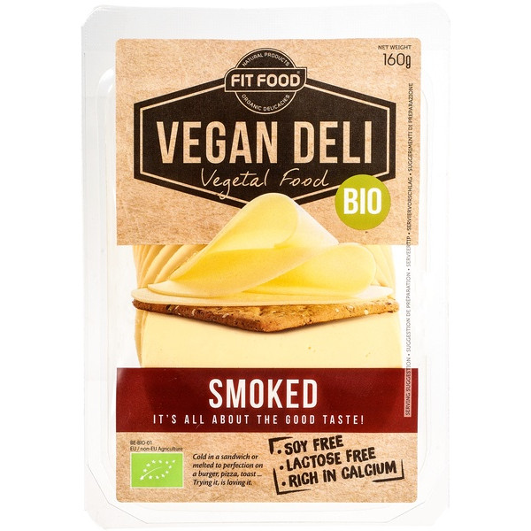 Vegan Cheese Slices Smoked, Vegan Deli, 160g [GF][V]