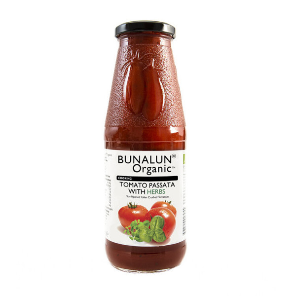 Crushed Tomato Passata with Herbs, Bunalun, 680g [GF]