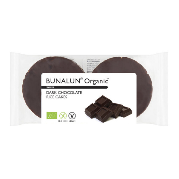 Dark Chocolate Rice Cakes, Bunalun, 100g [V]