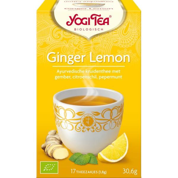 Organic Yogi Tea Ginger Lemon