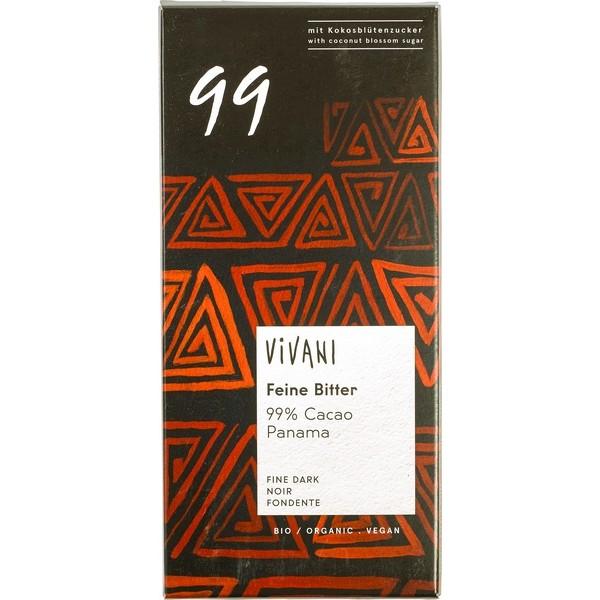 Chocolate Dark 99%, Vivani, 80g [PF] [V]