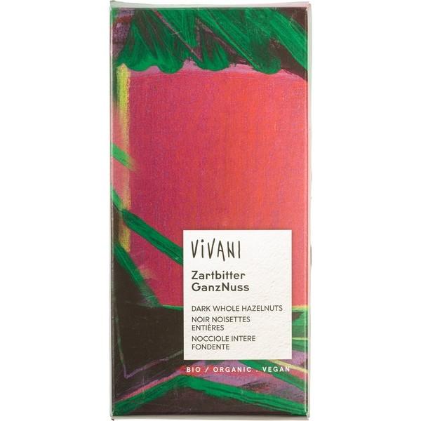 Chocolate Dark, Whole Hazelnuts, Vivani, 100g [PF] [V]