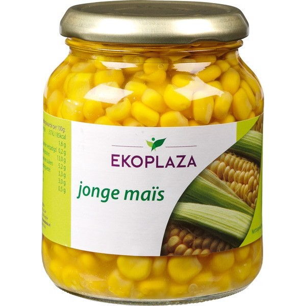 Organic Sweetcorn in Glass Jar