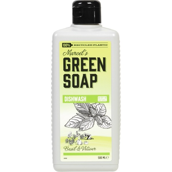 Marcel's Green Soap, Dishwashing Liquid, Basil & Vetiver