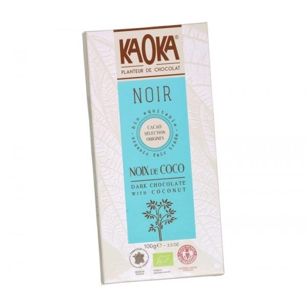 Organic Chocolate Kaoka Dark with Coconut (100g)