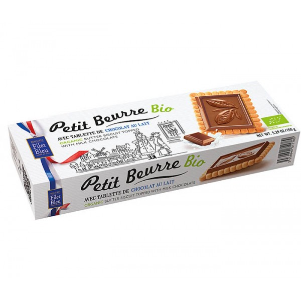 Organic French Biscuits Milk Chocolate