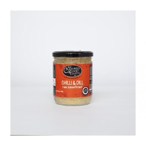 Organic Raw Sauerkraut Chilli and Dill