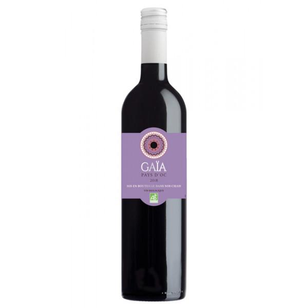 Organic Wine Red, Gaia France, Vin de Pays d'Oc