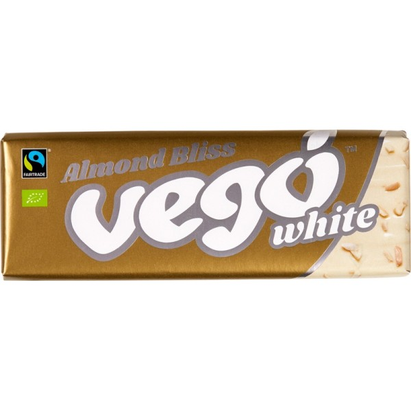 Chocolate White with Almonds, Vego 50g [GF] [V]