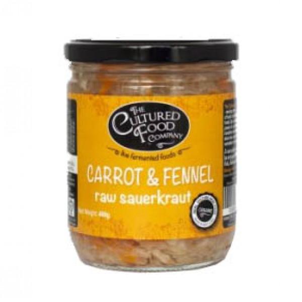 Organic Raw Sauerkraut Carrot and Fennel