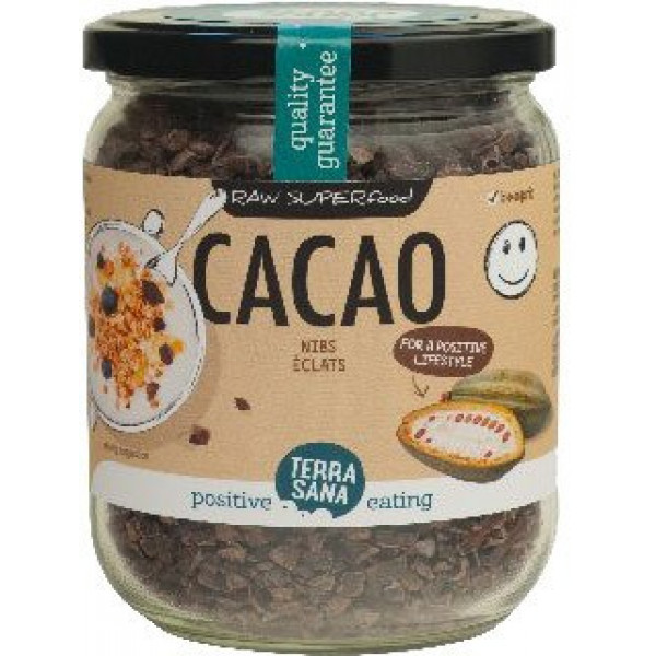 Jar of Cacao Nibs Raw, 230g [PF]