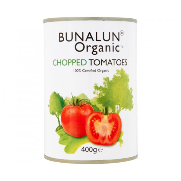 Organic Bunalun Chopped Tinned Tomatoes