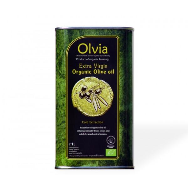 TIN Olive Oil Extra Virgin, Olvia, 1L TIN