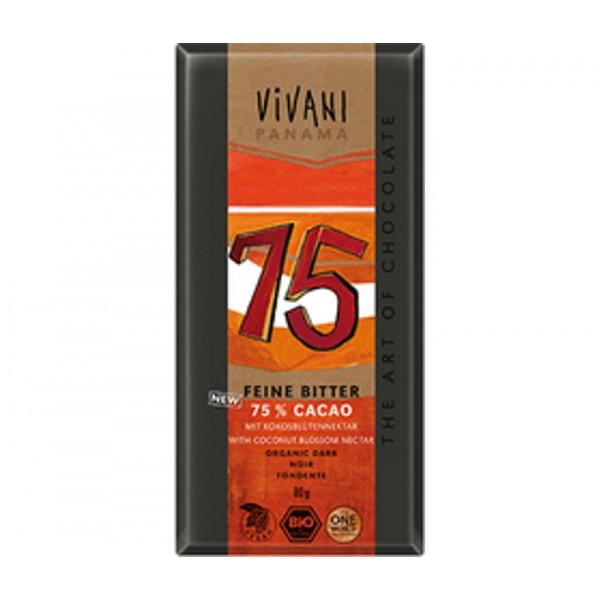 Organic Chocolate Vivani Dark 75%