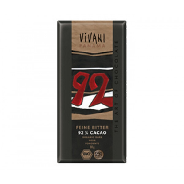 Organic Chocolate Vivani Dark 92%
