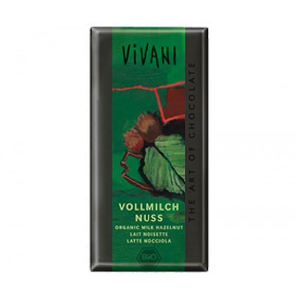 Organic Chocolate Vivani Hazelnut